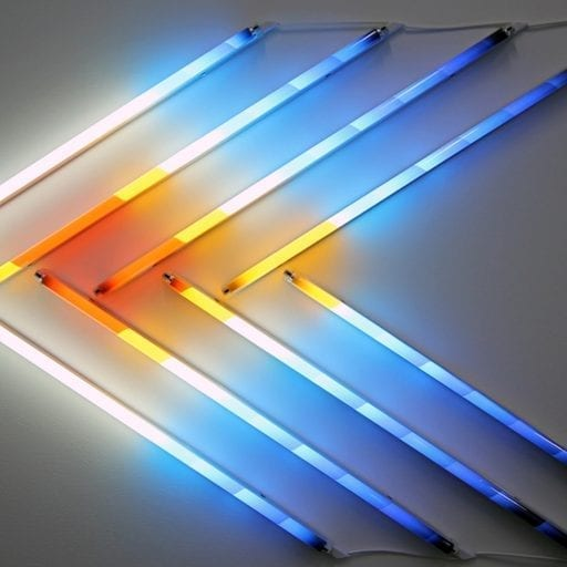 Fluorescent Neon Light Space Art