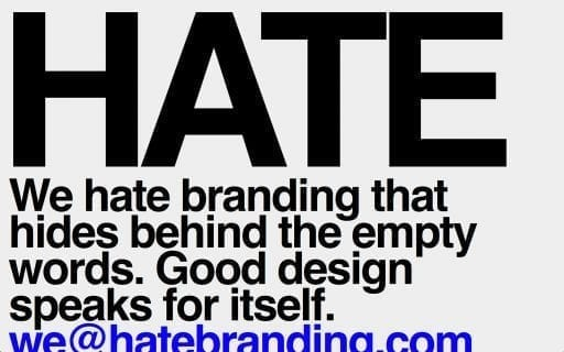 Brutalism web hate typography